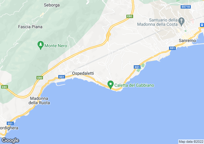 Map for Ospedaletti,Italy