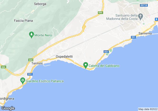 Map for Liguria, Imperia, Ospedaletti