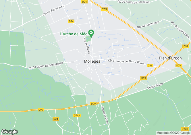 Map for Molleges, Provence - Alpilles, South Of France