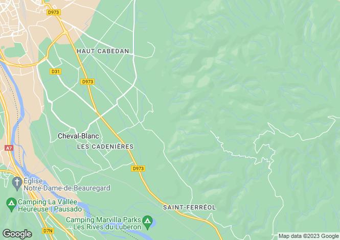 Map for Provence-Alps-Cote d`Azur, Vaucluse, Cavaillon