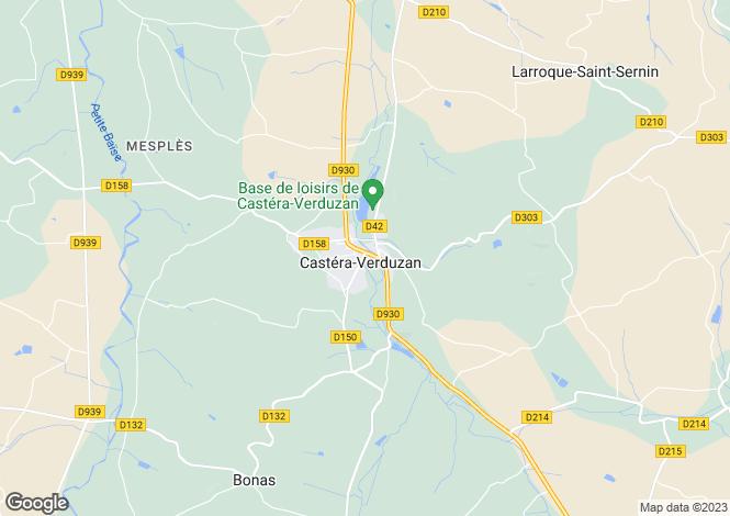 Map for Midi-Pyrénées, Gers, Castéra-Verduzan