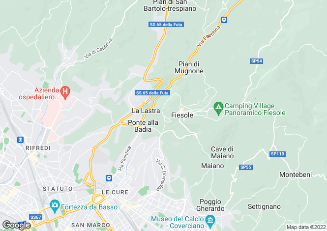 Map for Tuscany, Florence, Fiesole