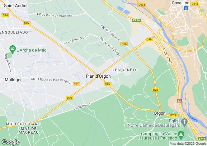 Map for 13750, Plan d'Orgon, Bouches-du-Rhone
