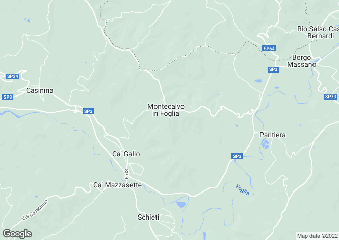 Map for Montecalvo in Foglia