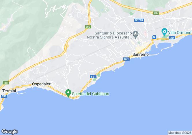 Map for Liguria, Imperia, San Remo