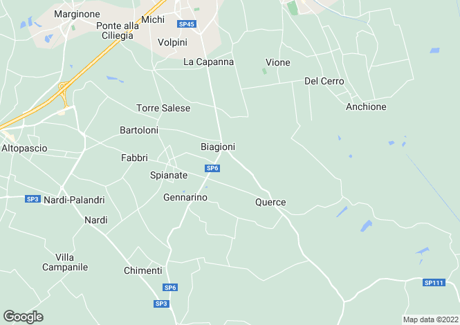 Map for Tuscany, Florence, Fucecchio