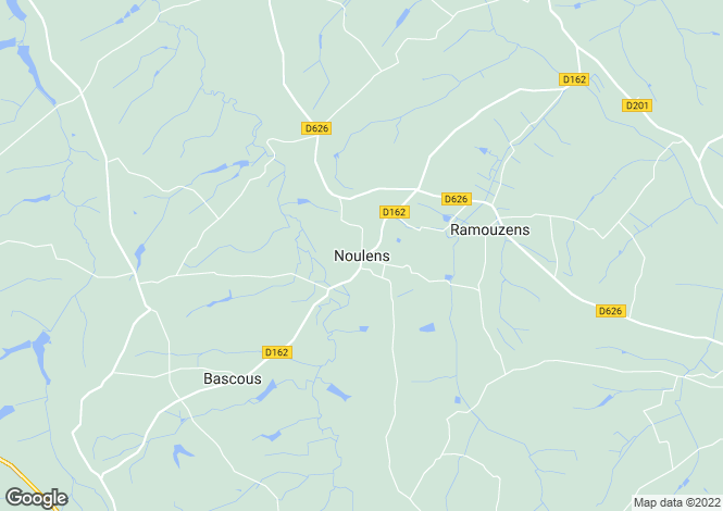 Map for Noulens, Midi-Pyrenees, 32800, France