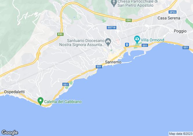Map for San Remo, Imperia, Liguria