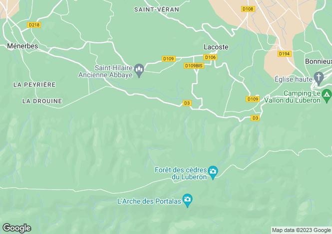 Map for Provence-Alps-Cote d`Azur, Vaucluse, Ménerbes