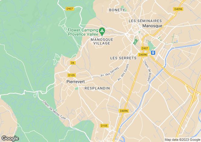 Map for PIERREVERT, Verdon to Lower Alps, Provence - Var,