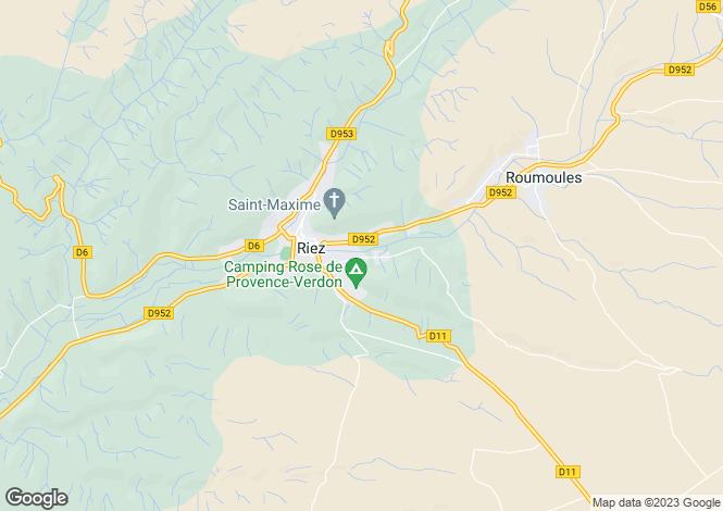 Map for riez, Alpes-de-Haute-Provence, France