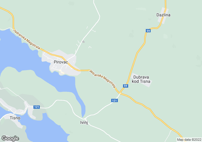 Map for Pirovac, Sibenik-Knin