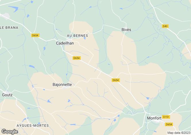 Map for Midi-Pyr�n�es, Gers, Cadeilhan