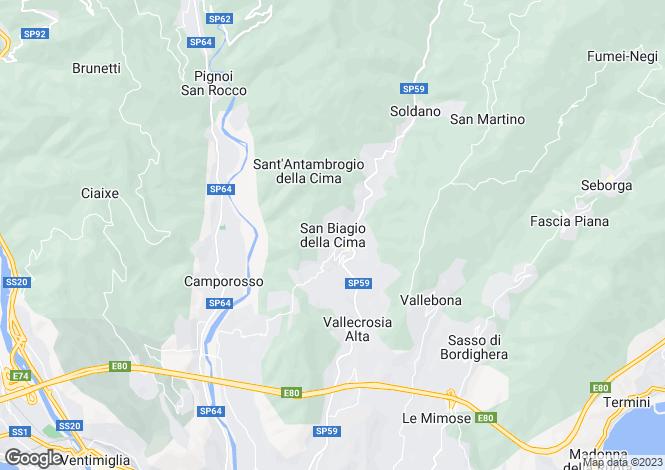 Map for San Biagio Della Cima, Imperia, Liguria
