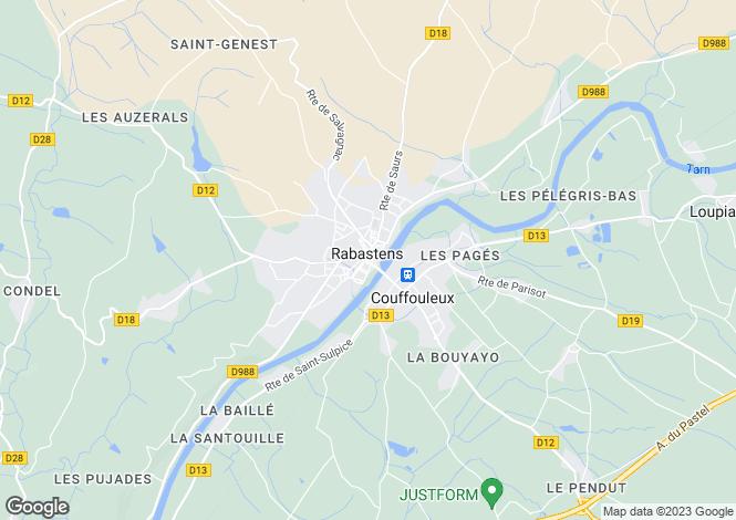 Map for Secteur: Rabastens, Tarn