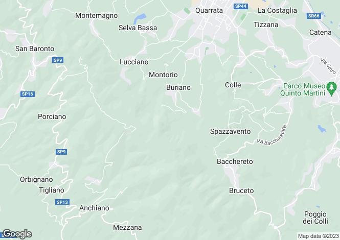 Map for Quarrata, Pistoia, Tuscany