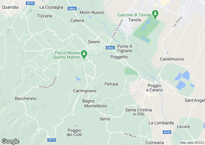 Map for Tuscany, Prato