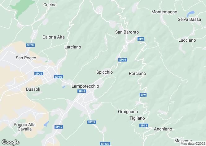 Map for Tuscany, Pistoia, Pistoia