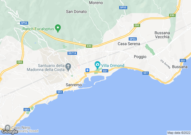 Map for San Remo, Imperia, Liguria
