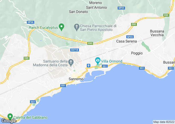 Map for Sanremo,Italy
