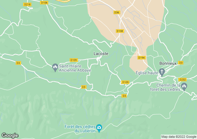 Map for LACOSTE, The Luberon, Provence - Var,