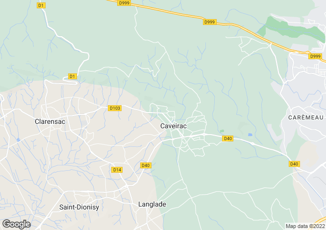 Map for caveirac, Gard, France