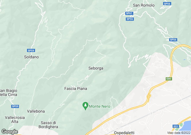 Map for Seborga,Italy