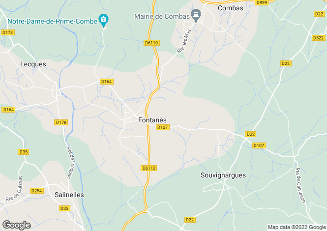 Map for fontanes, Gard, France