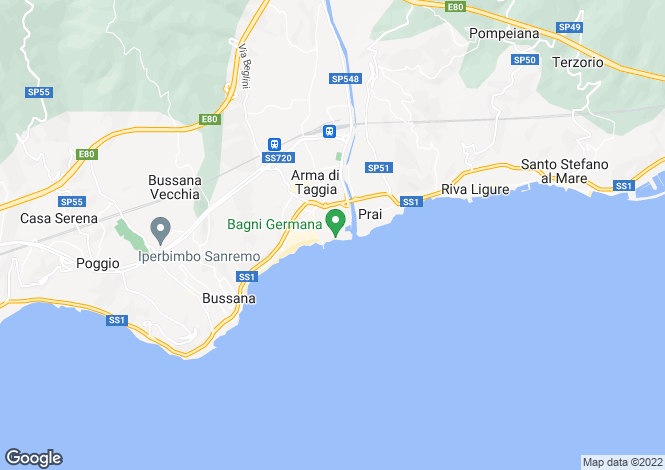 Map for Taggia, Imperia, Liguria