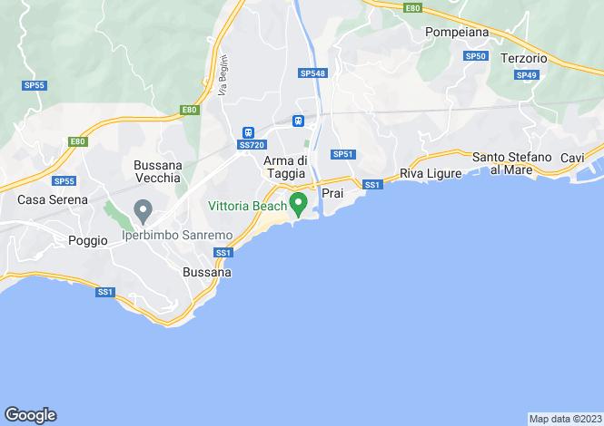 Map for Liguria, Imperia, Taggia