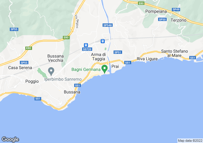 Map for Liguria, Imperia, Taggia
