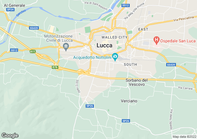 Map for Villa Ripa, Lucca, Tuscany, Italy