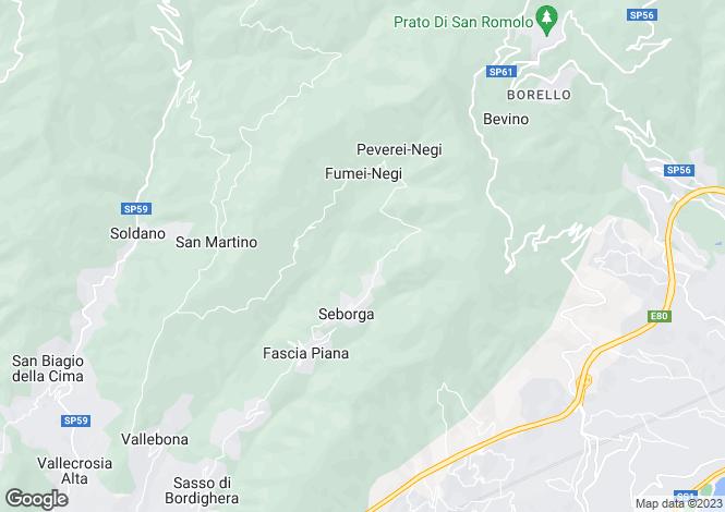 Map for Seborga, Imperia, Liguria