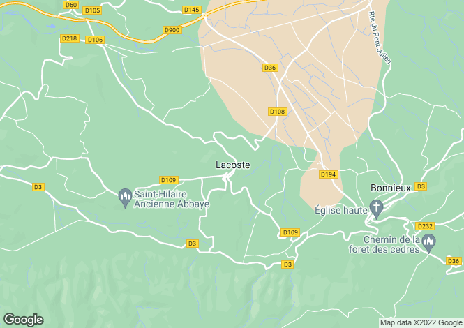 Map for 84480, Lacoste, Vaucluse