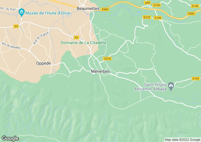 Map for Proche / Near Menerbes, Vaucluse