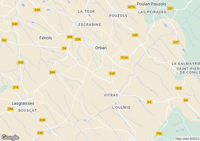Map for Midi-Pyrenees, Tarn, Orban
