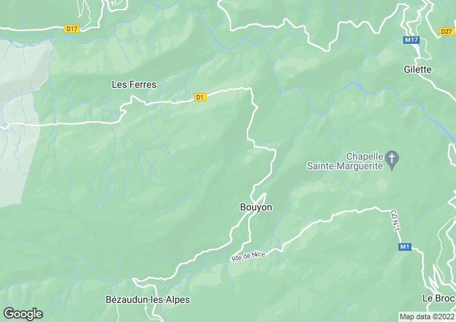 Map for bouyon, Alpes-Maritimes, France