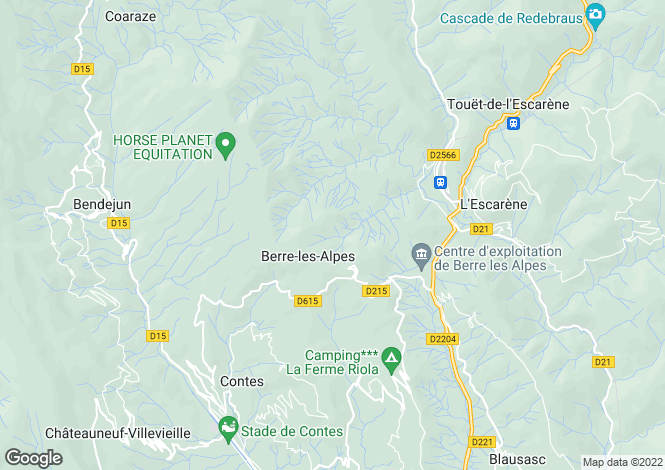Map for BERRE LES ALPES, Nice Area, Riviera,
