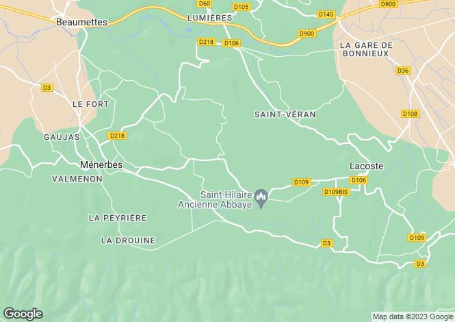 Map for Ménerbes, Vaucluse, Provence-Alps-Cote d`Azur