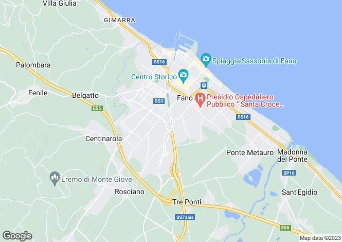Map for Le Marche, Pesaro e Urbino, Fano