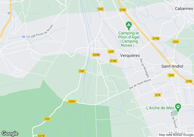 Map for Saint-Remy de Provence, Alpilles, Provence