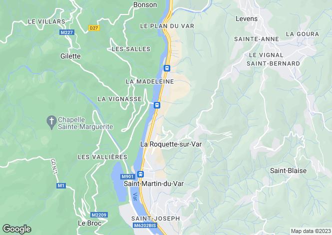 Map for Provence-Alps-Cote d`Azur, Alpes-Maritimes, St-Martin-du-Var