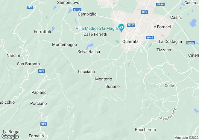 Map for Tuscany, Pistoia, Quarrata