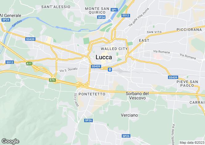 Map for Villa La Quercia, Lucca, Italy