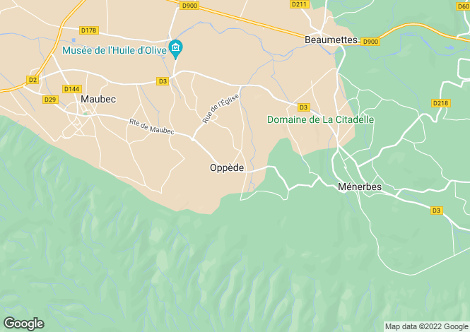 Map for Provence-Alps-Cote d`Azur, Vaucluse, Oppede