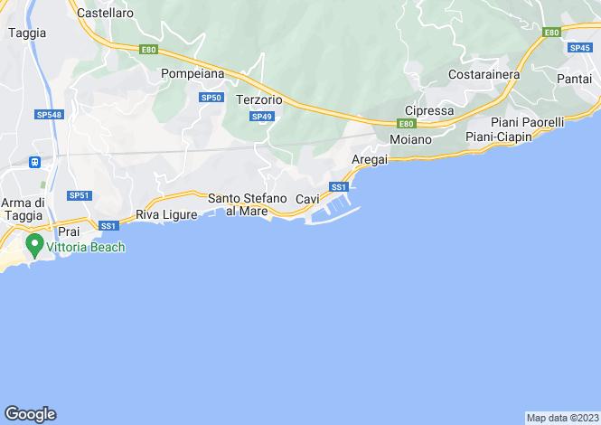 Map for Santo Stefano al Mare, Imperia, Liguria