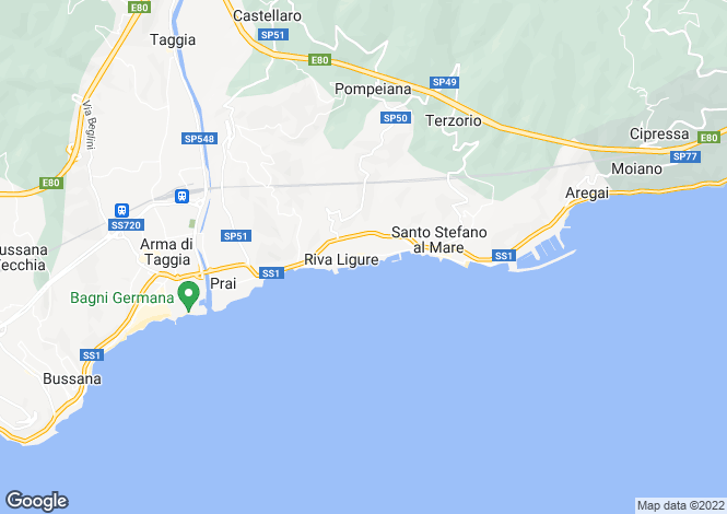 Map for Liguria, Imperia, Riva Ligure