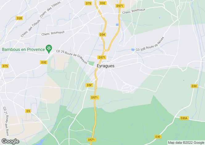 Map for Eyragues, Bouches-du-Rhone, France