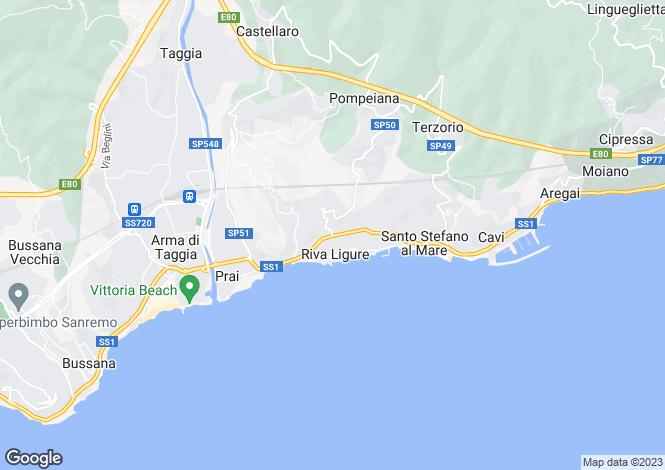 Map for Riviera Di Ponente, Liguria