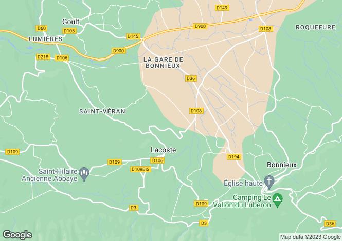 Map for Provence-Alps-Cote d`Azur, Vaucluse, Lacoste